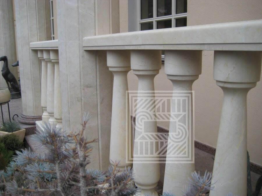 Балясины из белого мрамора. balusters - 1 2