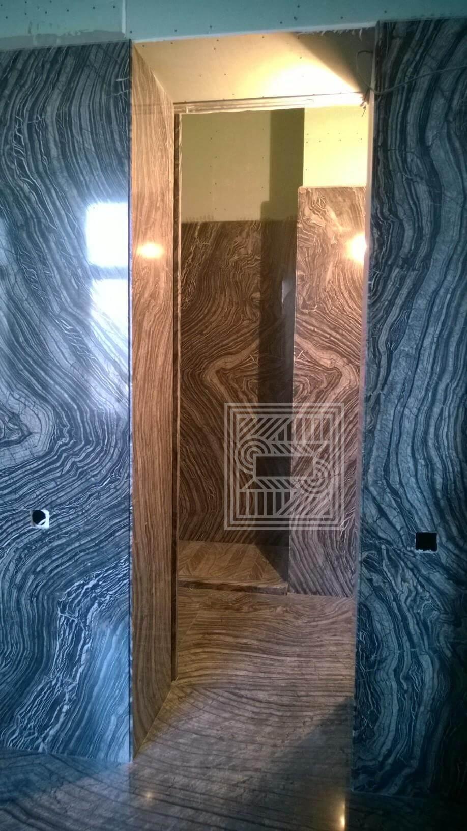 Стены облицованные мрамором Black Wood walls - Black Wood 7