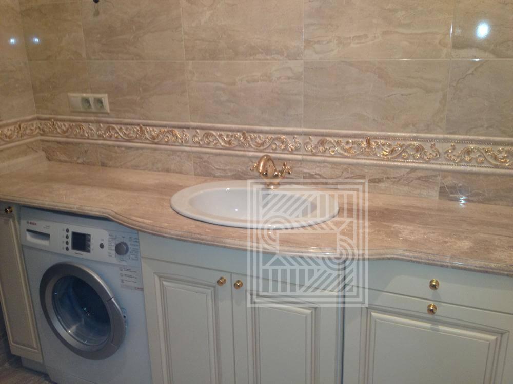 Столешница в ванную из мрамора Daino worktop-marble - Daino2