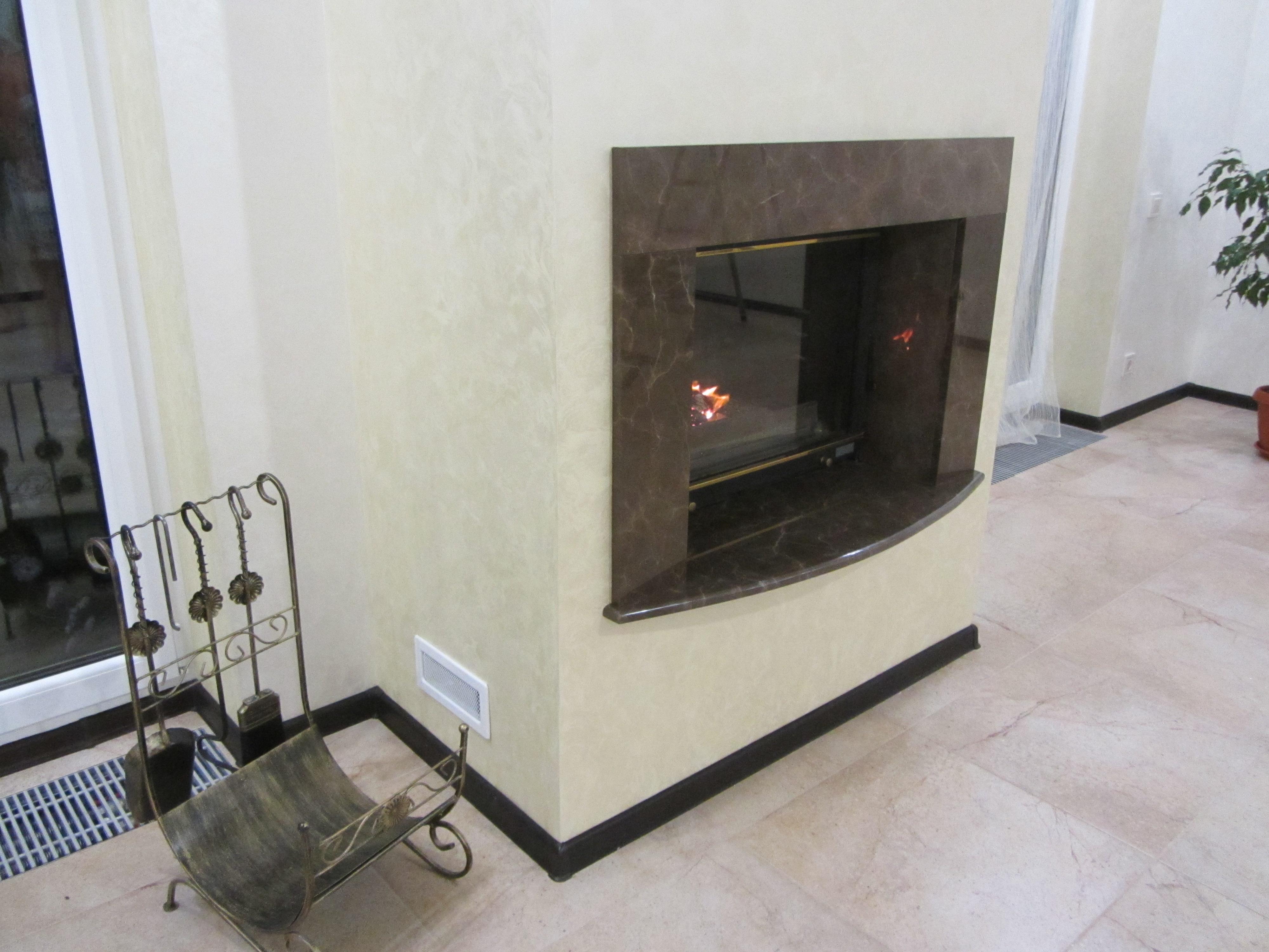 Камин из мрамора Bronze Brown fireplace-marble - IMG 0440 1