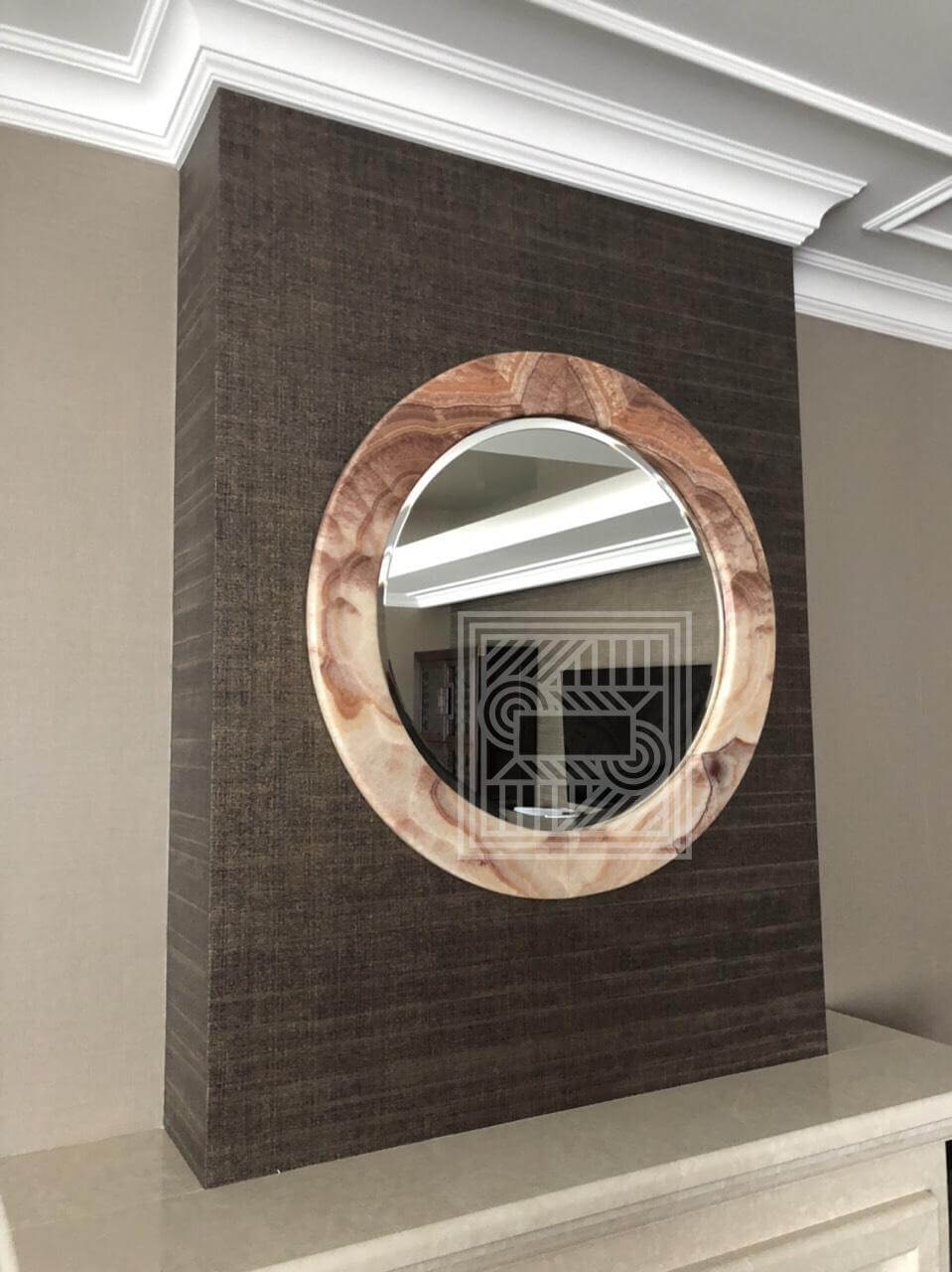 Обрамление для зеркала из оникса Kilimangiaro Viola 20 mm furniture - IMG 3439