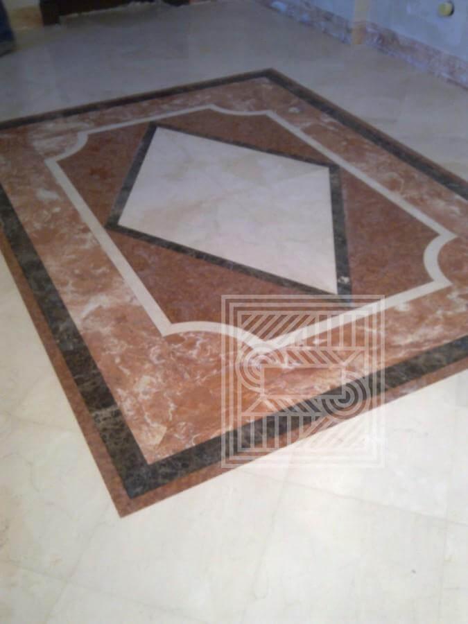 Геометрический (напольный рисунок) из мрамора panel - LARGE 4 1