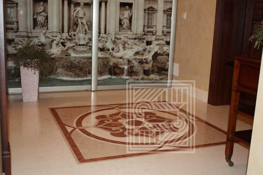 Полы из мрамора с рисунком floor-marble - LARGE 8