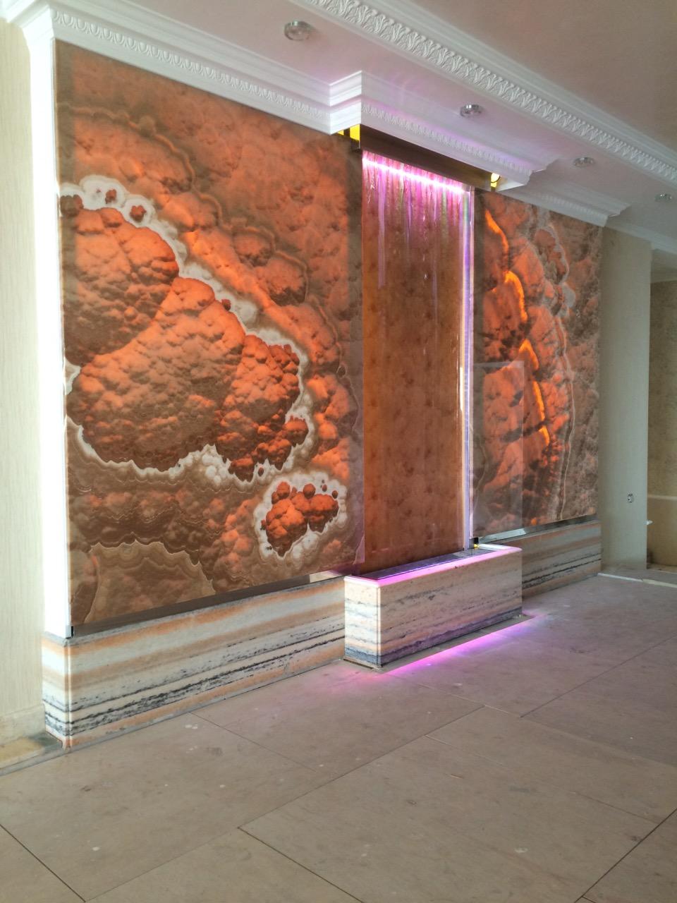 Облицовка стен натуральным камней walls - Parus 3