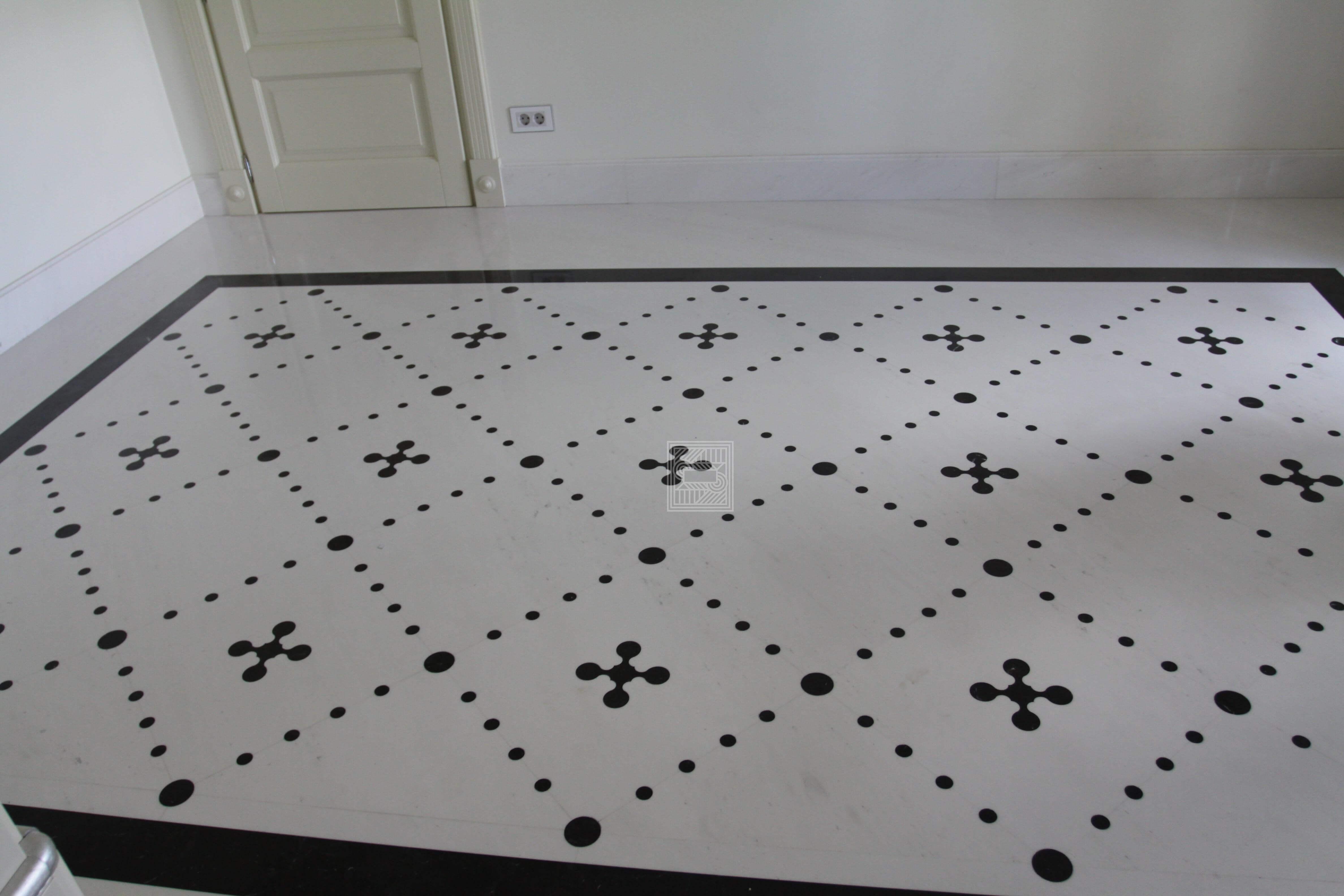 Полы из мрамора с узором floor-marble - floor3