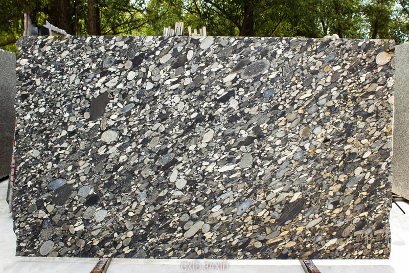 Black Mozaik (30 mm) granite - Black Mozaik 30 mm satinato