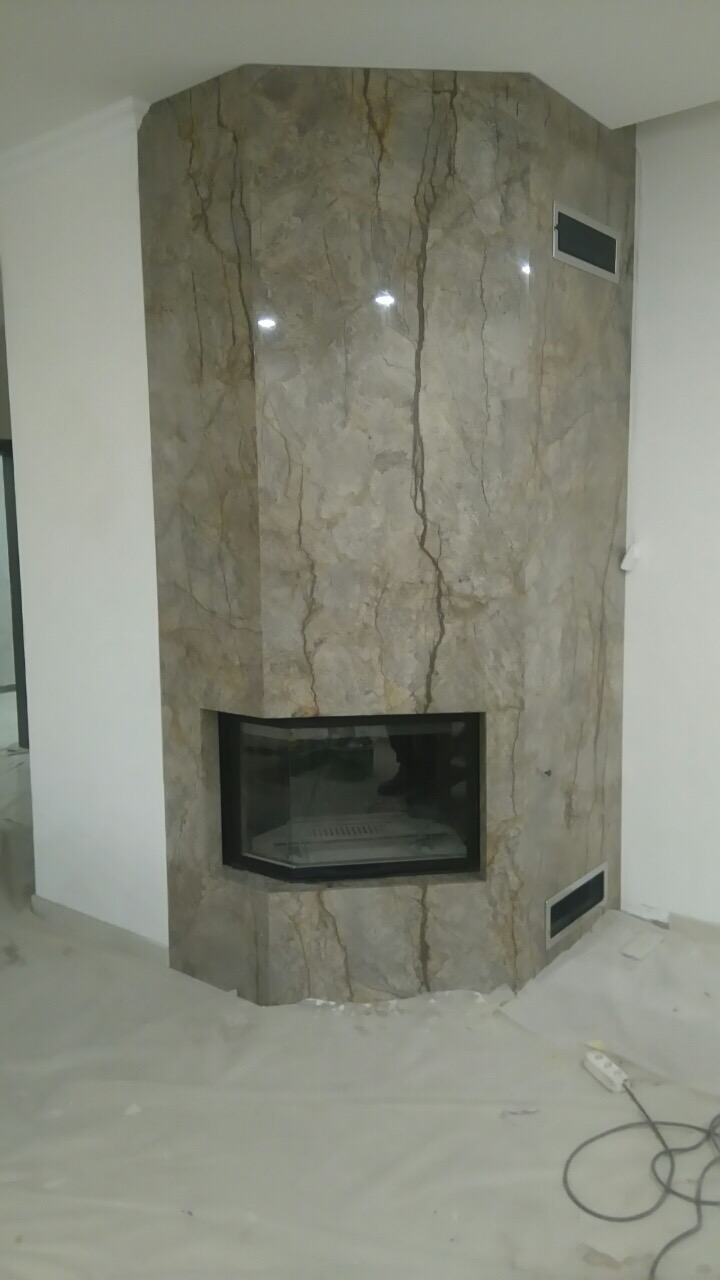 Камин из мрамора Harmony Grey fireplace-marble - IMG 0773 1