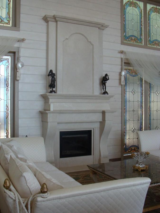 Камин из мрамора Crema Marfil fireplace-marble - LARGE 8 2