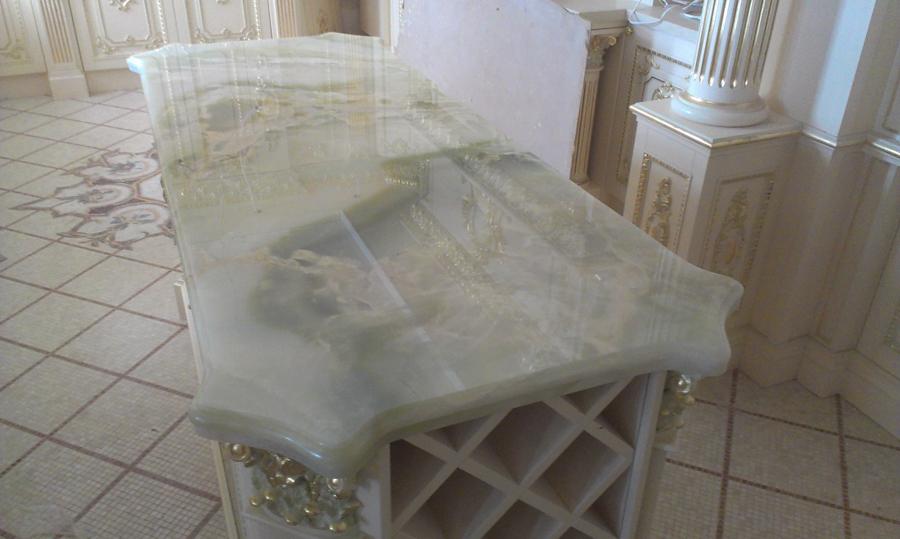 Стол из оникса Onice Green desk - Onice Green 1