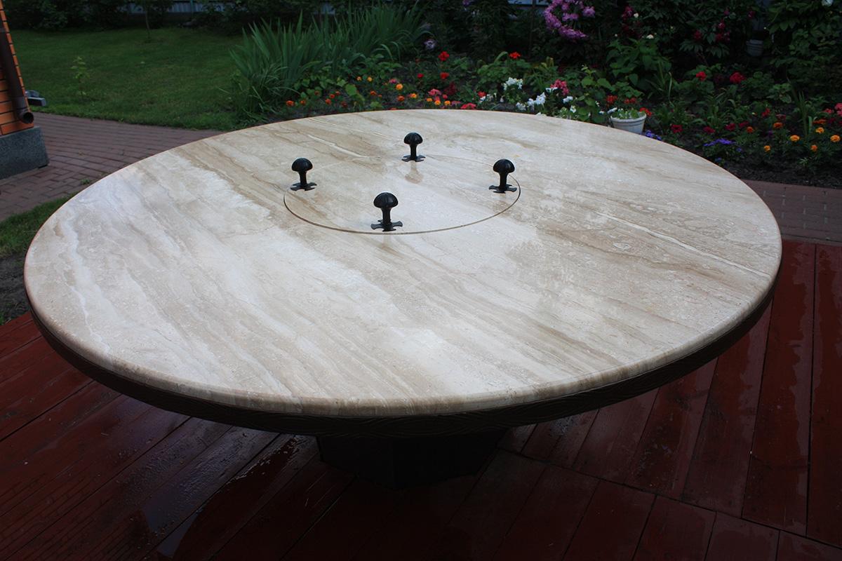 Стол из мрамора Daino desk - stol iz mramora Daino