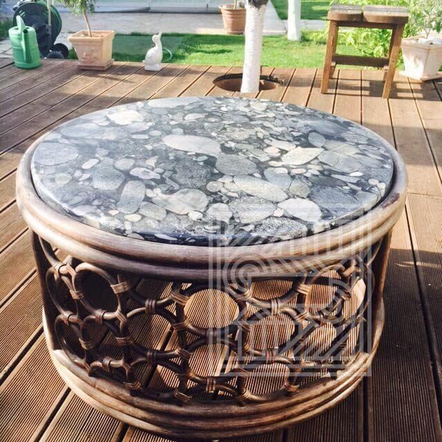 Столик из гранита Black Mozaik desk, furniture - 7