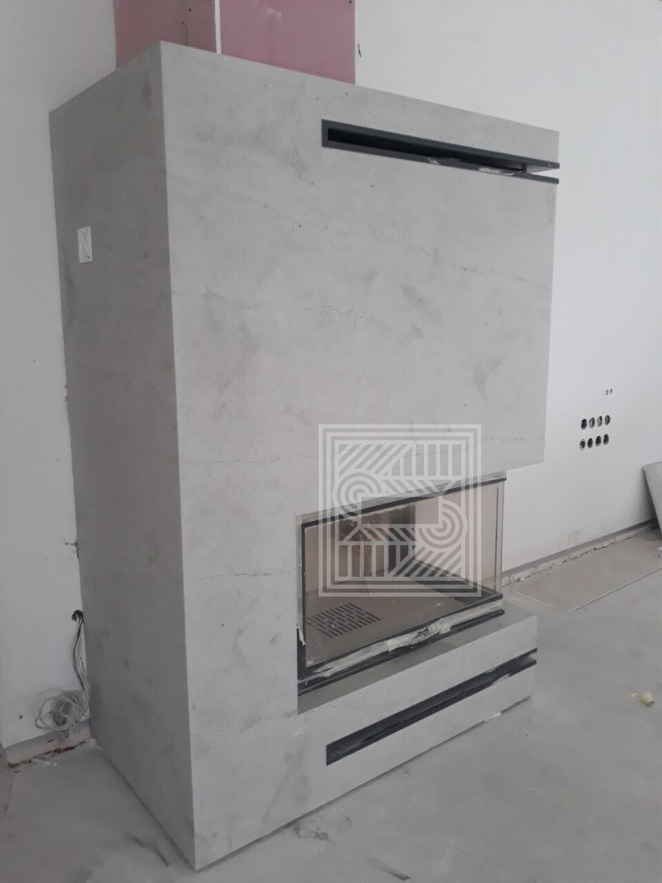 Камин из мрамора Thala Grey Royal (leather) 20 mm fireplace-marble - unnamed file 1
