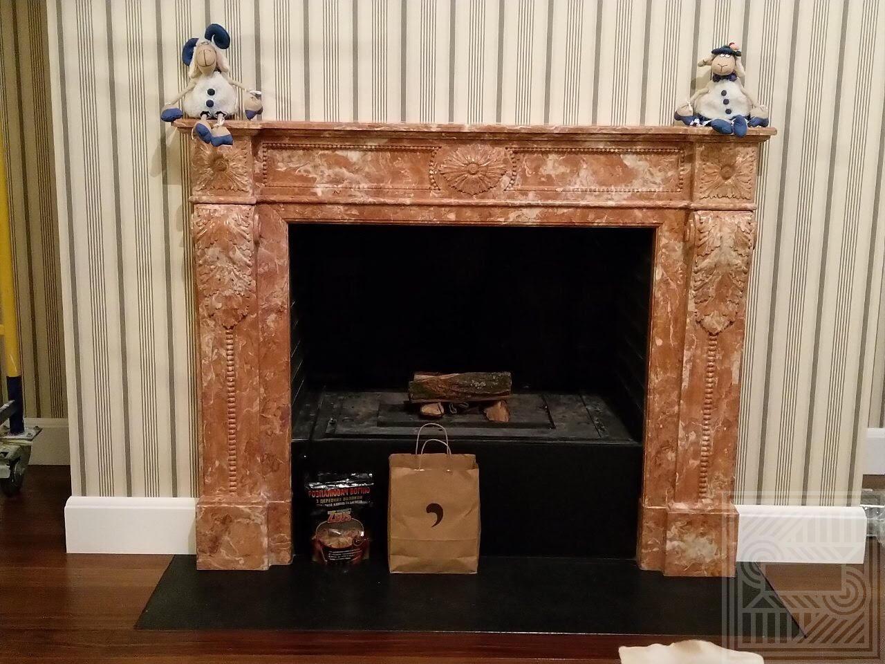 Камин из мрамора Rosa Mirage fireplace-marble - 2 1