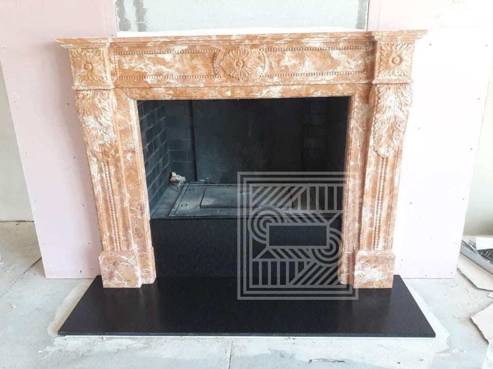 Камин из мрамора Rosa Mirage fireplace-marble - IMG 3409