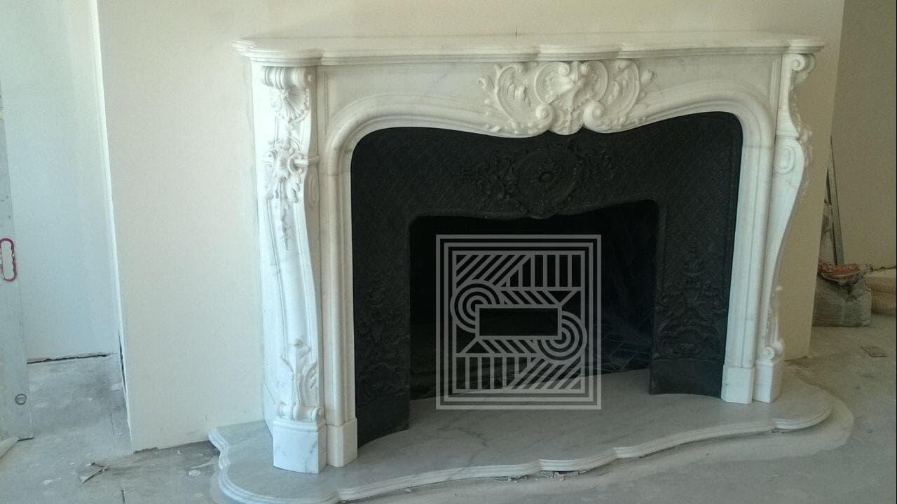 Камин из мрамора Statuarieto и Сarrara fireplace-marble - IMG 3645