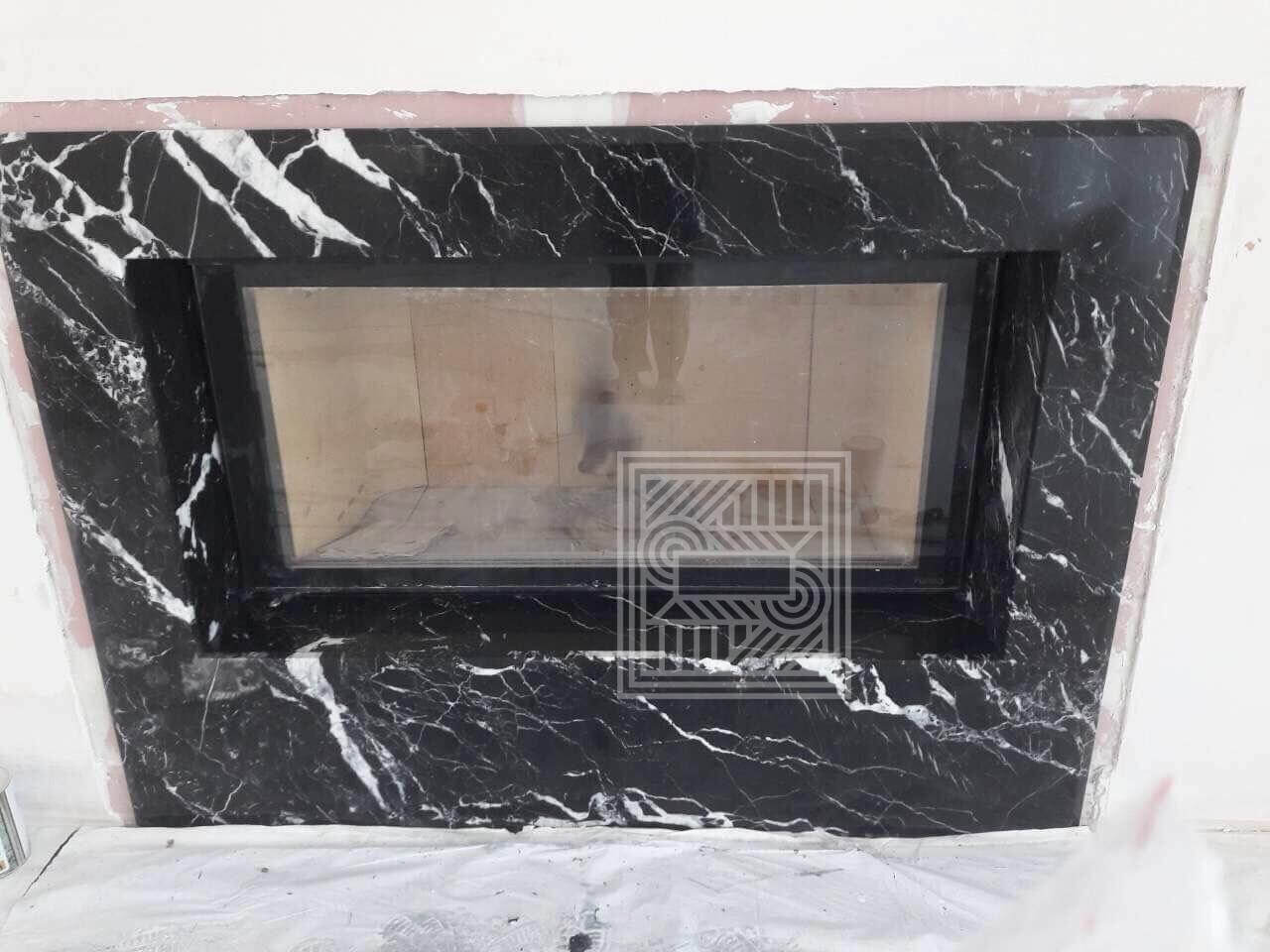 Камин из мрамора Nero Marquina (20 mm) fireplace-marble - IMG 4018