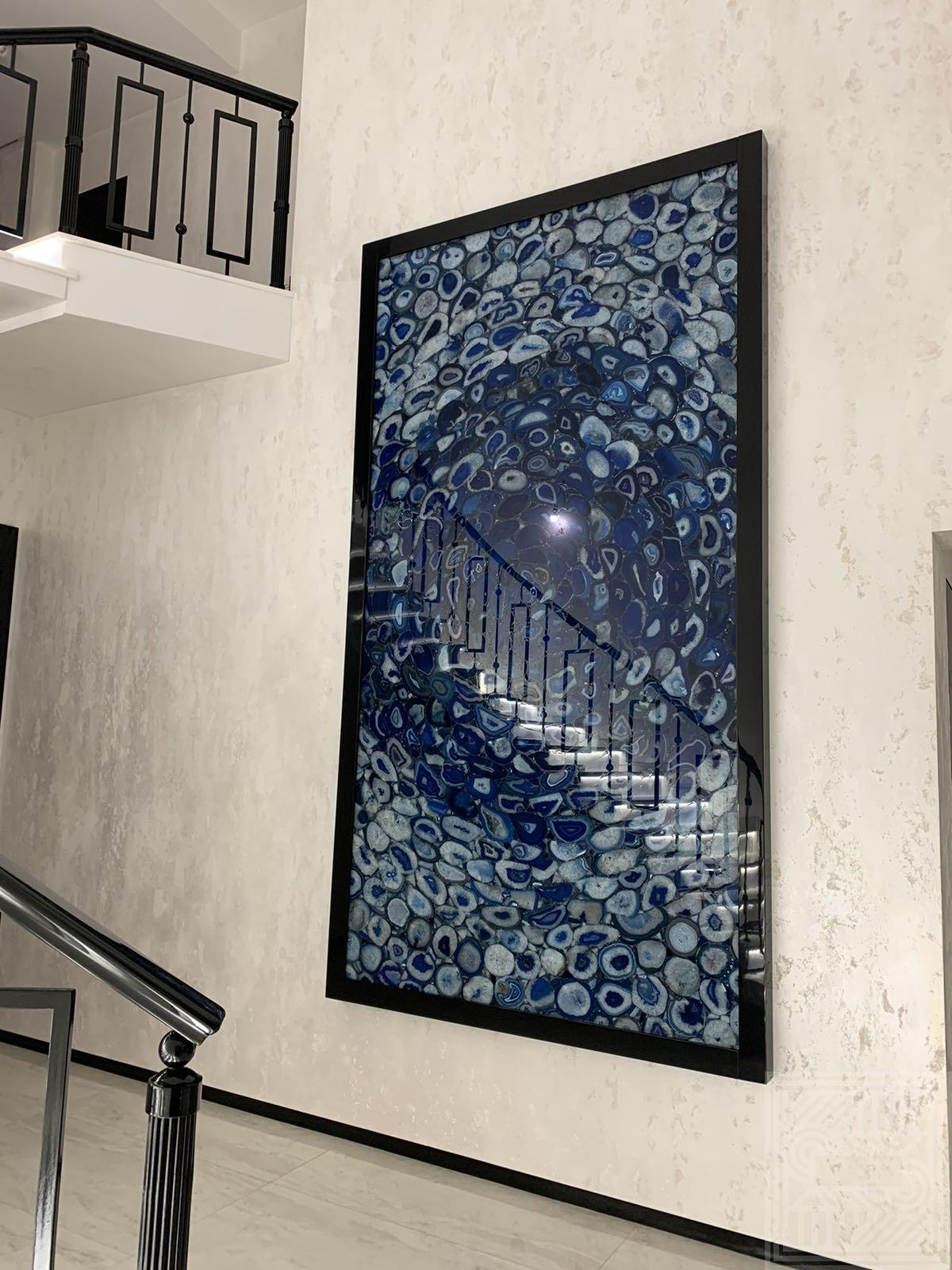 Панно из синего агата walls - agat