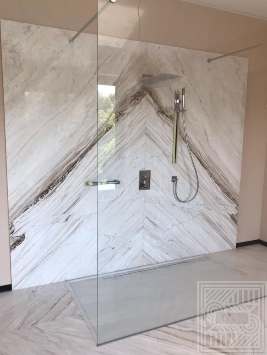 Стена облицованная мрамором Palissandro (20 мм) walls - IMG 6082