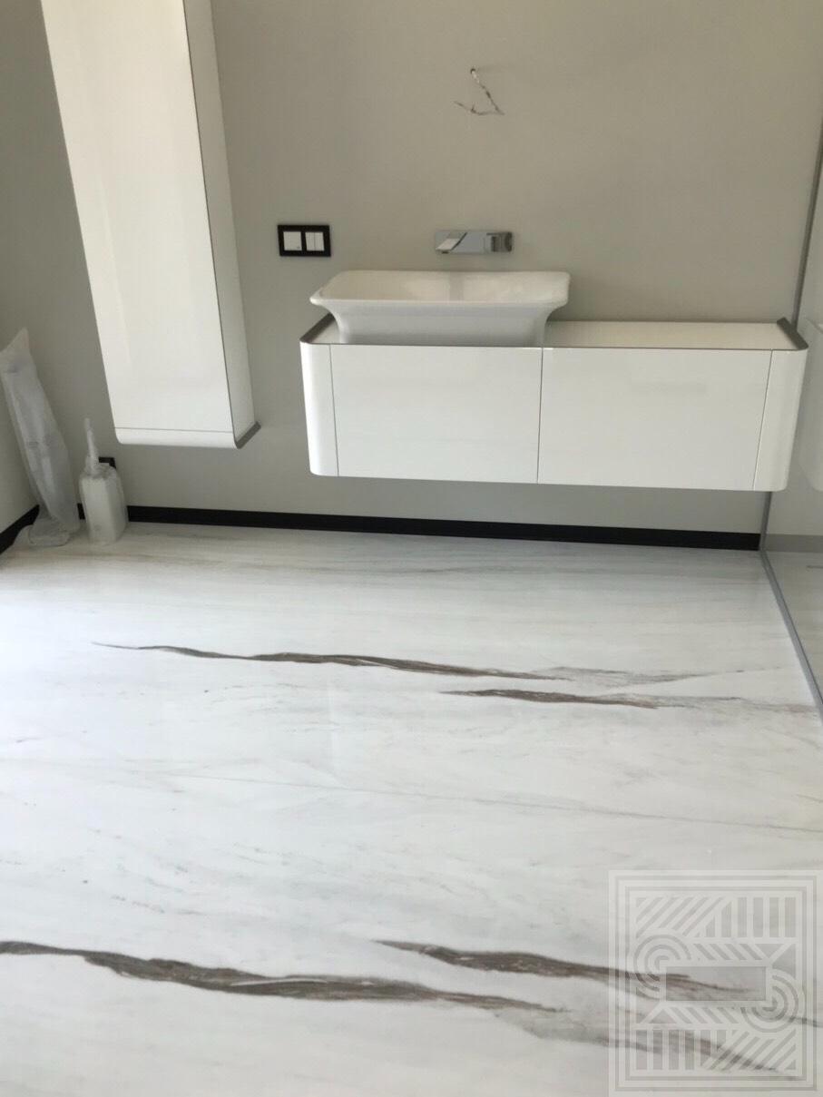 Пол из мрамора Bianco Lasa (20 мм) floor-marble, floor - IMG 6085