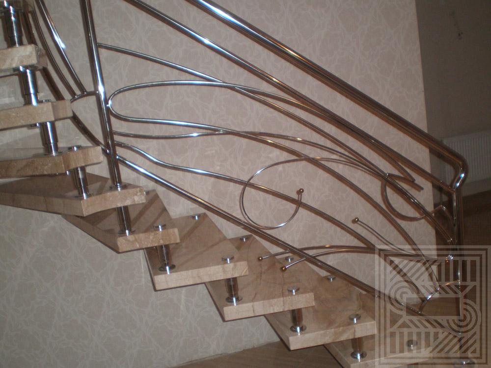 Лестница из мрамора Daino 20-30 мм. stair-marble - Boltsevaya lestnitsa iz mramora Daino 3030 mm