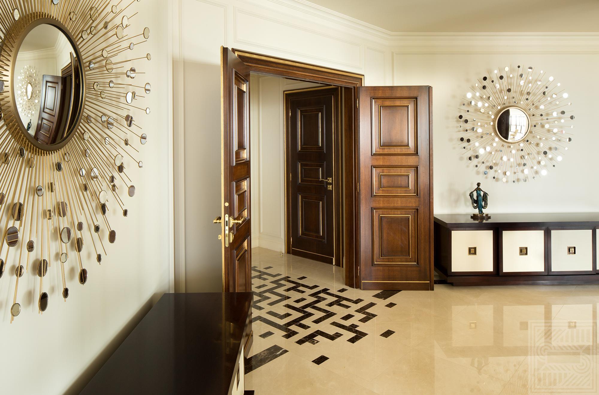 Пол из мрамора Сrema Marfil и Oriental Brown 20 мм floor-marble - Inkrustatsiya pola mramorom Srema Marfil Oriental Brown 20 mm