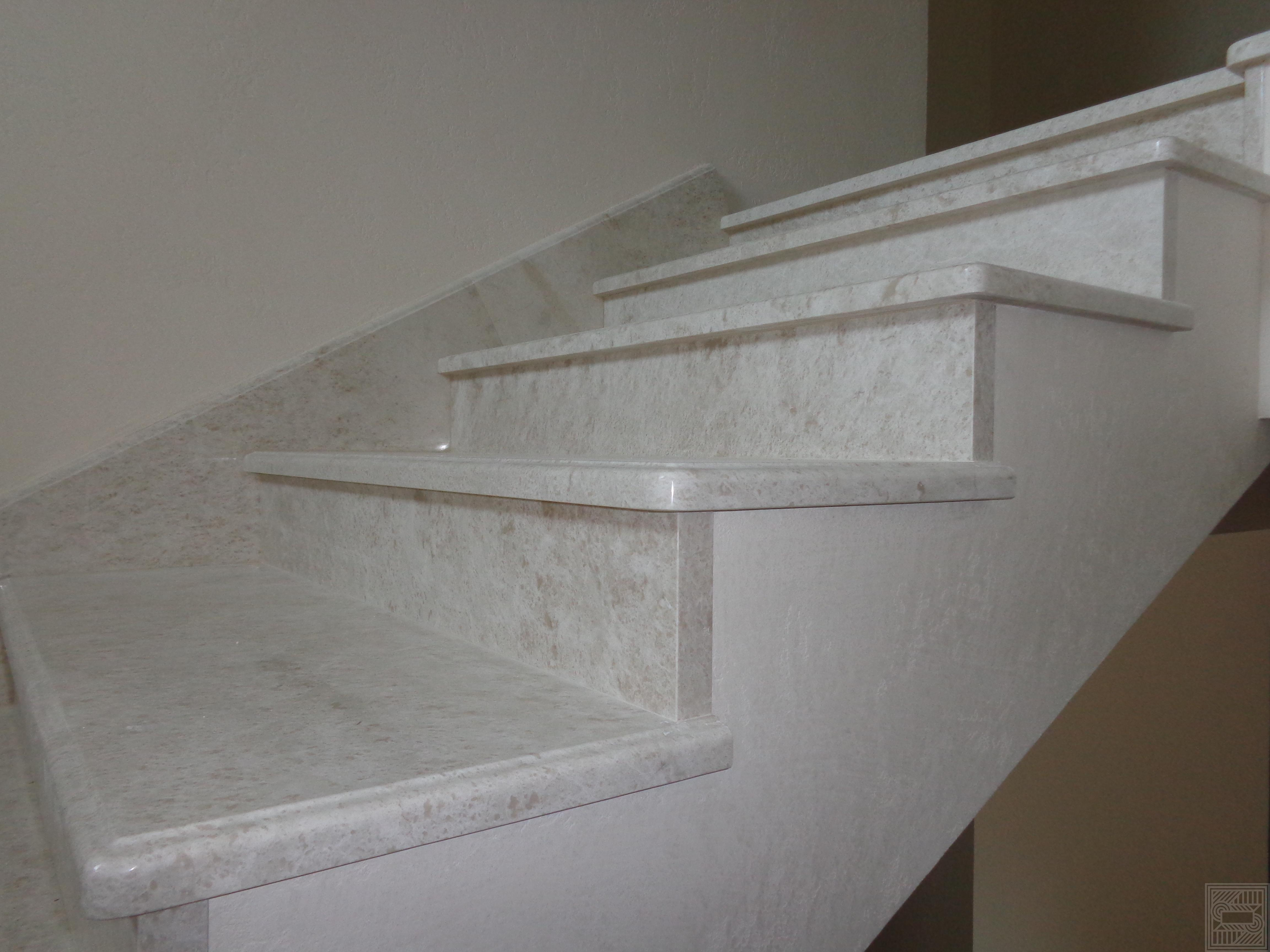 Лестница из мрамора Botticino Fiorito 20-30 мм stair-marble - Lestnitsa iz mramora Botticino Fiorito 20 30 mm