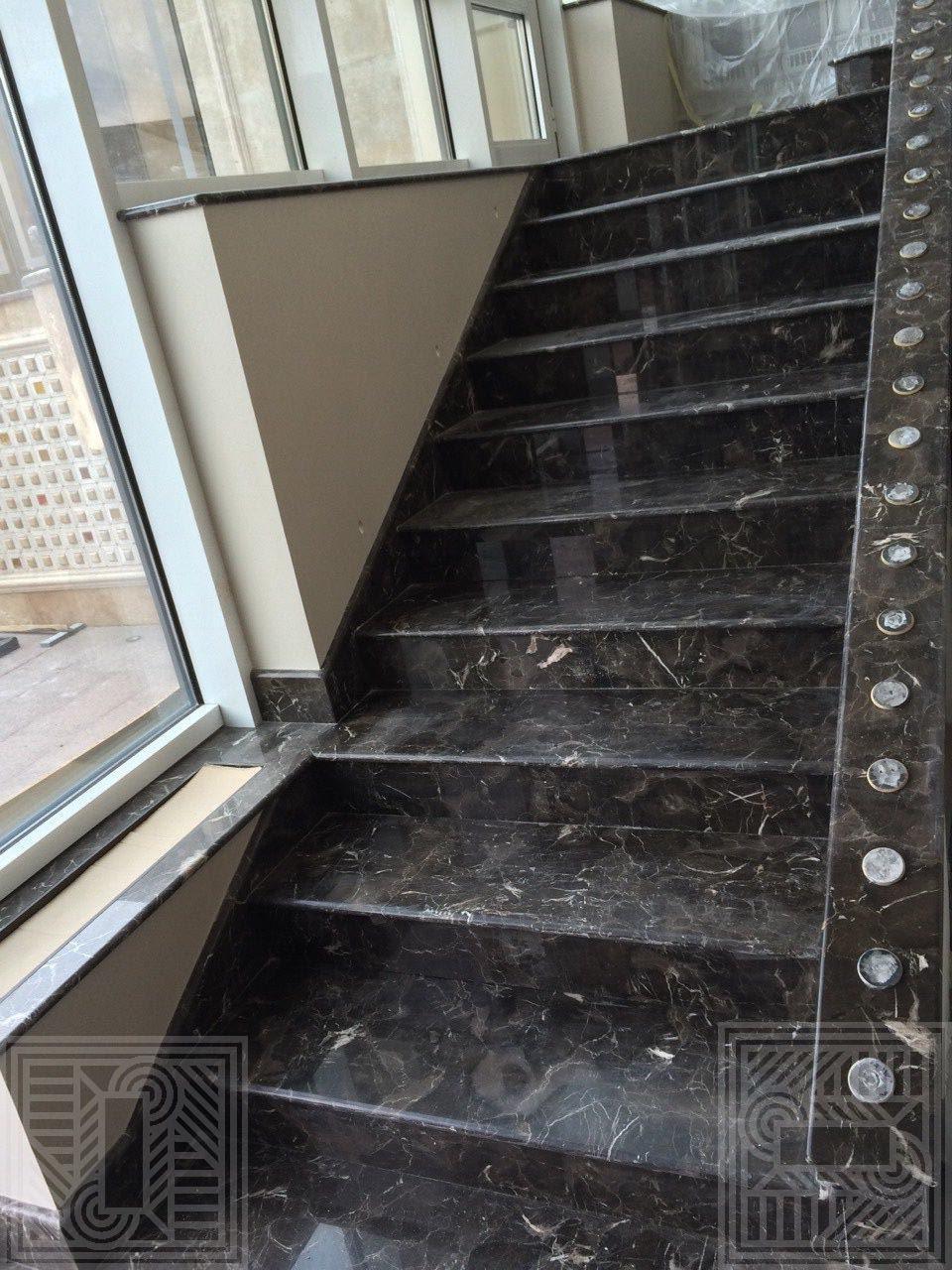 Лестница из мрамора Oriental Brown 20 мм stair-marble - Lestnitsa iz mramora Oriental Brown 20 mm e1544463706346