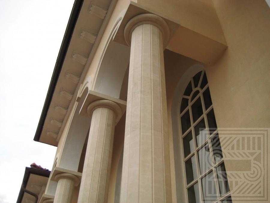 Облицовка колон мрамором Crema Marfil columns - Oblitsovka kolon mramorom Crema Marfil 2