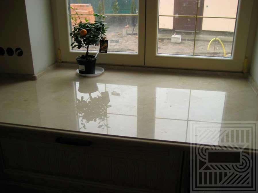 Подоконник из мрамора Сrema Marfil 30 мм. windowsill-marble - Podokonnik iz mramora Srema Marfil 30 mm