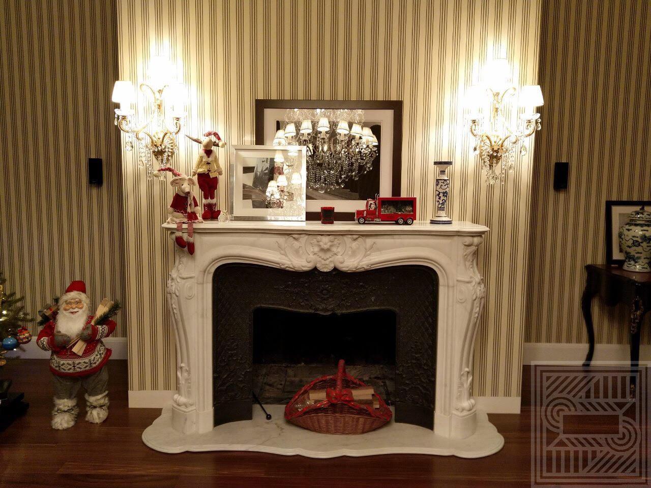 Белый мраморный камин fireplace-marble - belyj kamin 1