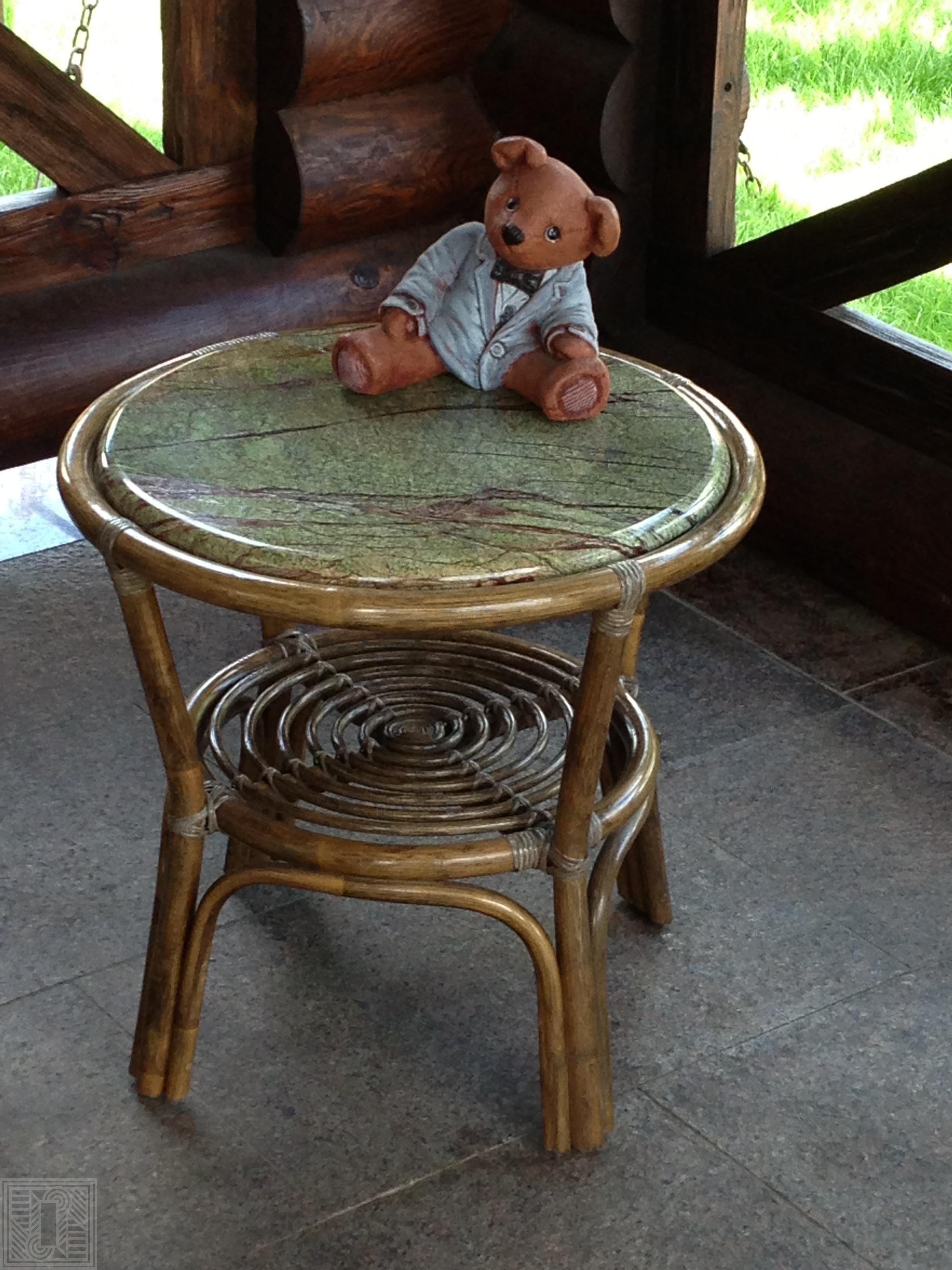 Столик из мрамора Rein Forest Green furniture - Stolik iz mramora Rein Forest Green e1547119559342