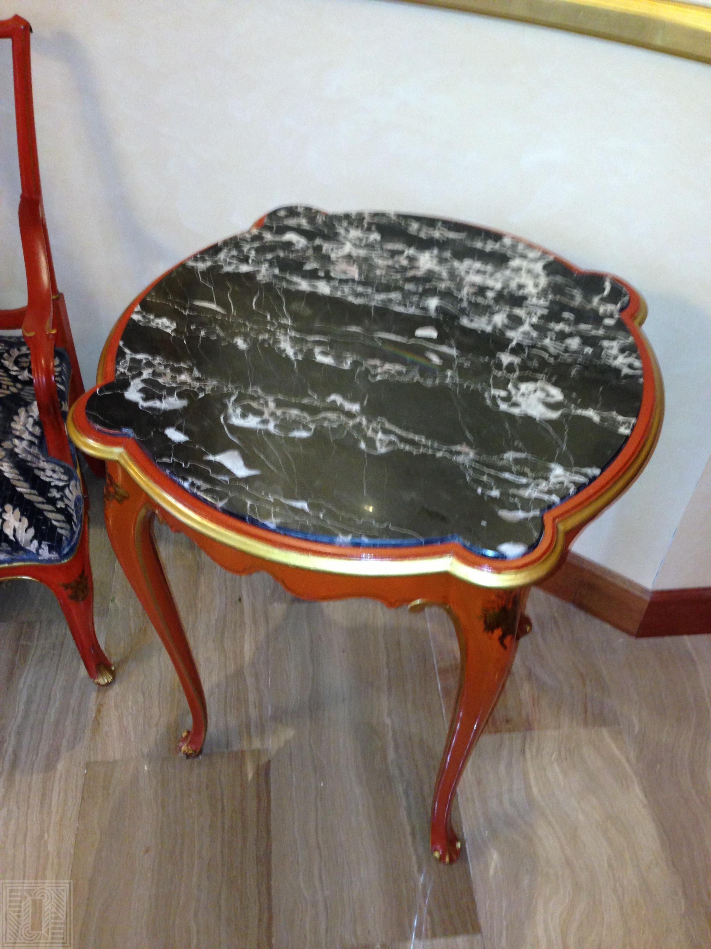 Столик с столешницей из мрамора Nero Marquina desk, furniture - IMG 1364 e1563286126165