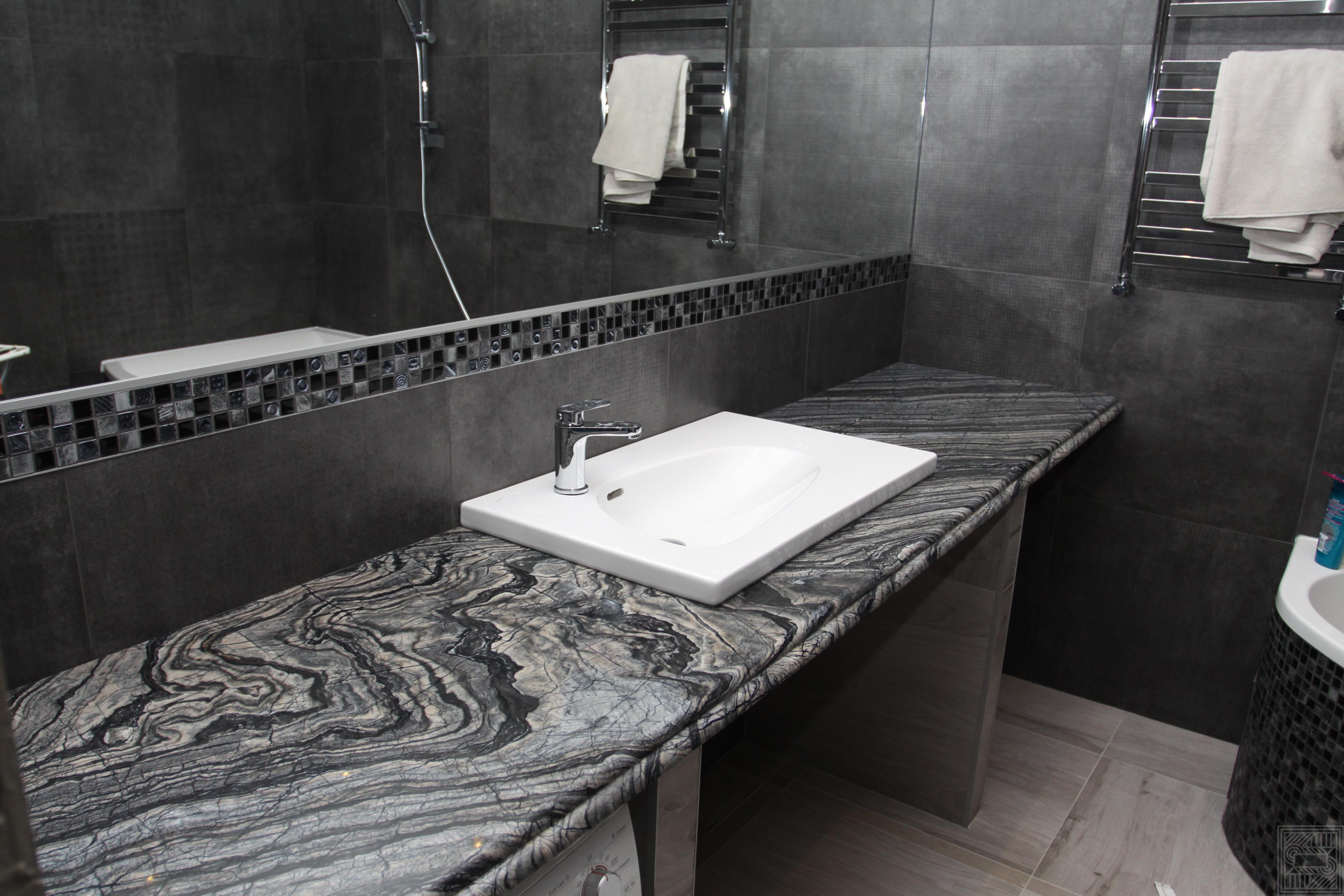 Столешница из мрамора Black Wood worktop-marble, none - IMG 5466
