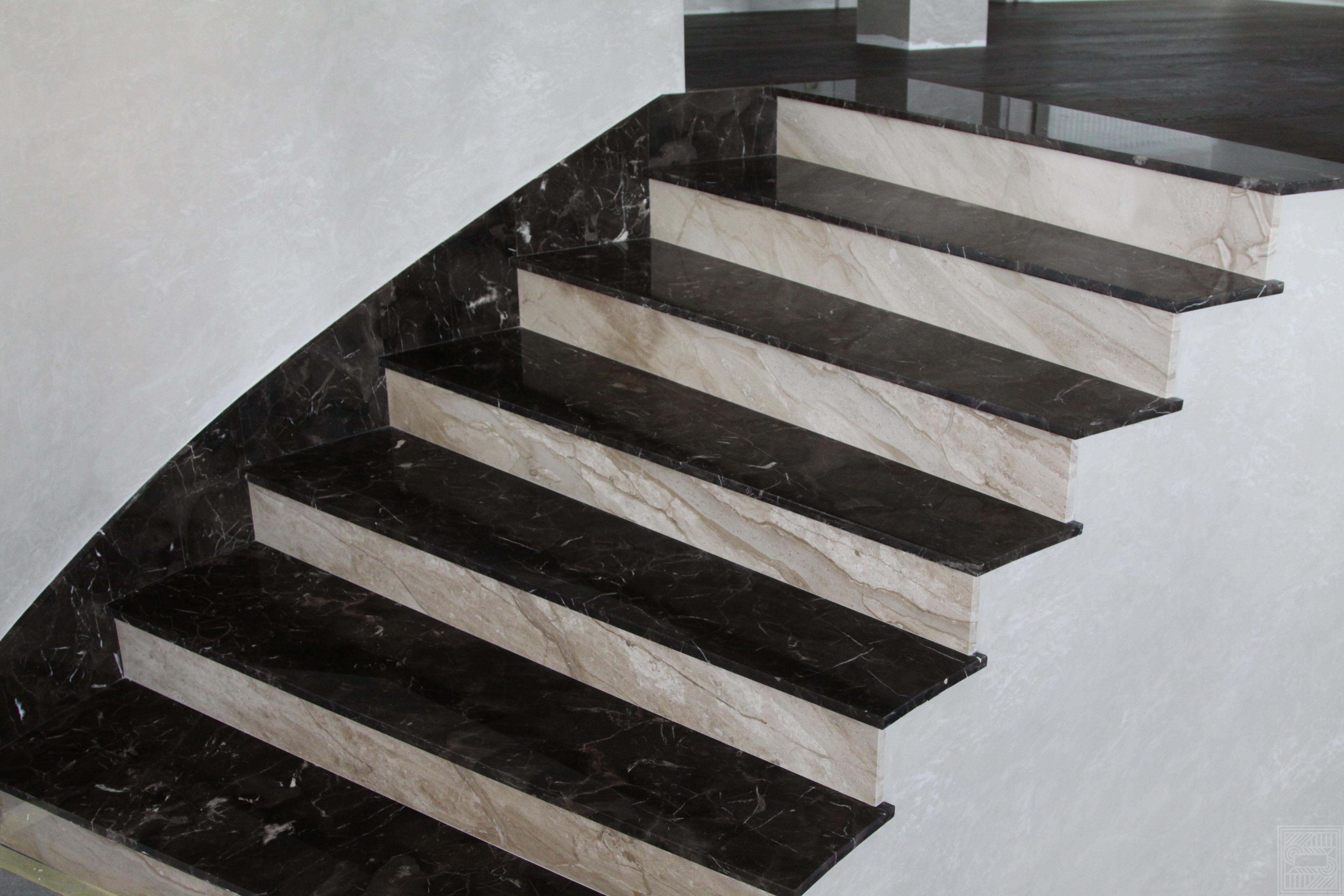 Лестница из мрамора Oriental Brown и Daino stair-marble - IMG 6673