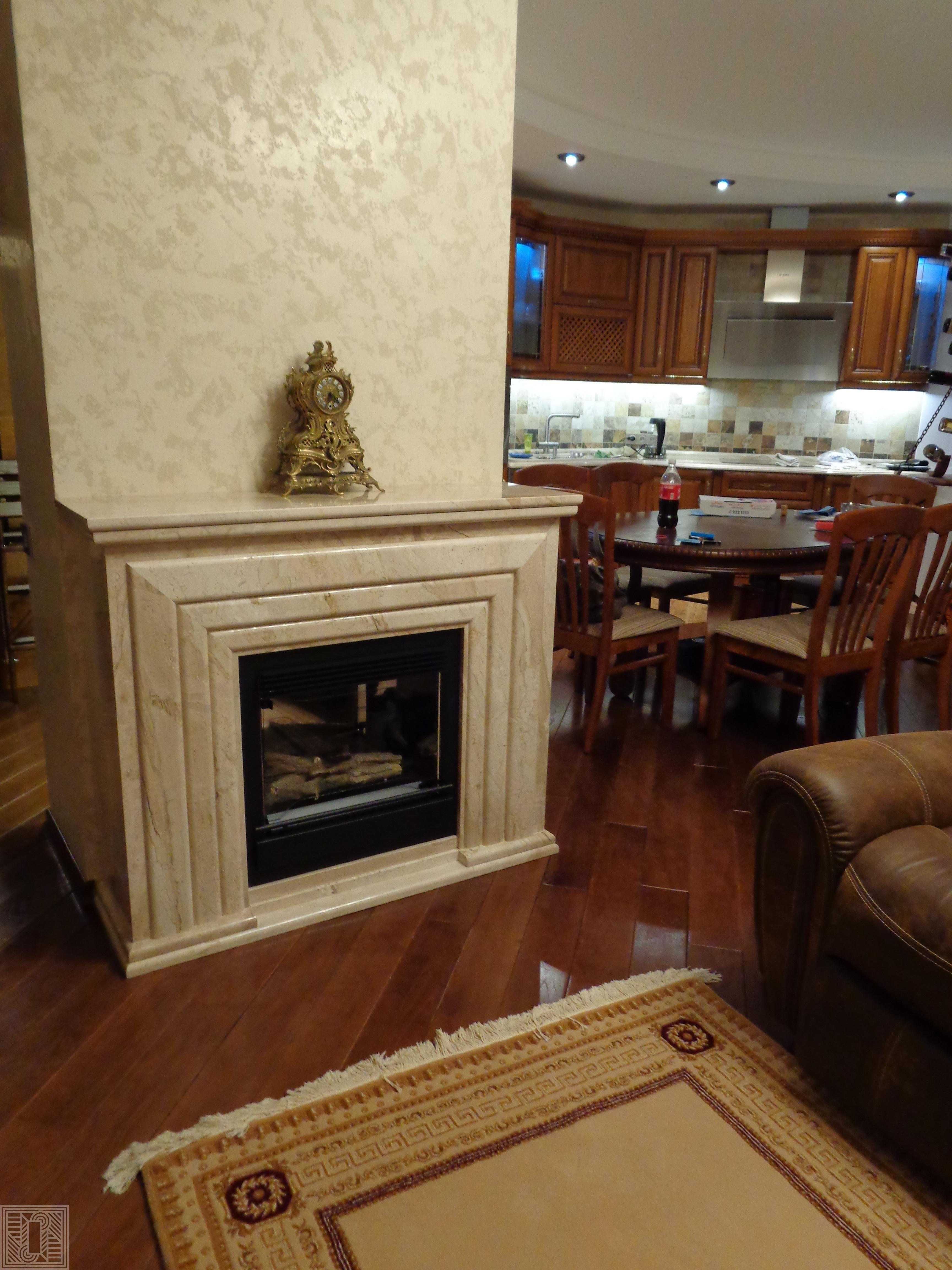Камин из мрамора Daino 30 мм fireplace-marble - Kamin iz mramora Daino 30 mm e1562345461540