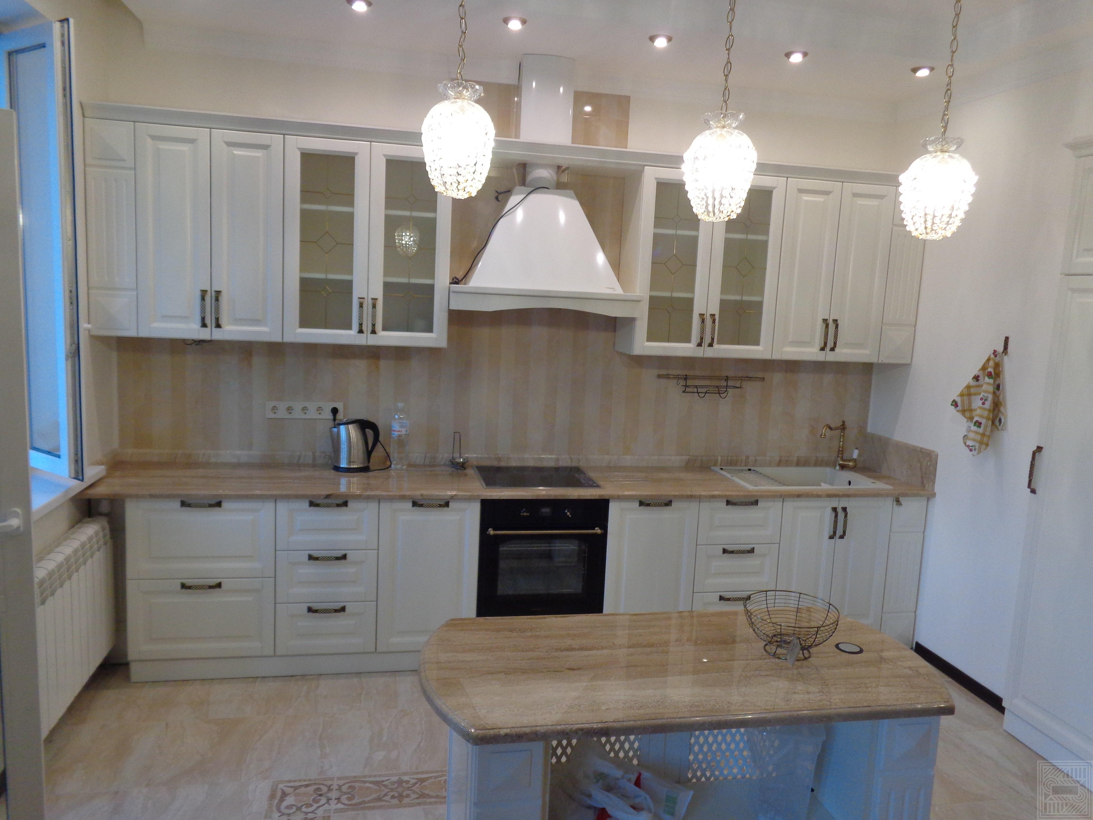 Кухонный комплекс из мрамора Daino desk, worktop-marble - Krasnotkatskaya43 4