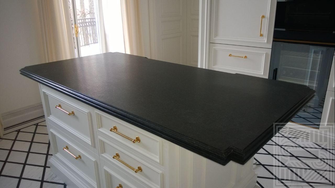 """Кухонная рабочая поверхность """"остров"""" из гранита Cambrian Black 20+20 мм desk - Kuhonnaya rabochaya poverhnost iz granita Cambrian Black 2020 mm 2"""