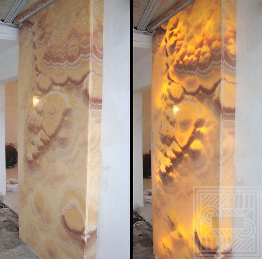 Ниша с подсветкой из Onice Arco Iris Extra 20 мм walls - Nisha iz Onice Arco Iris Extra 20 mm