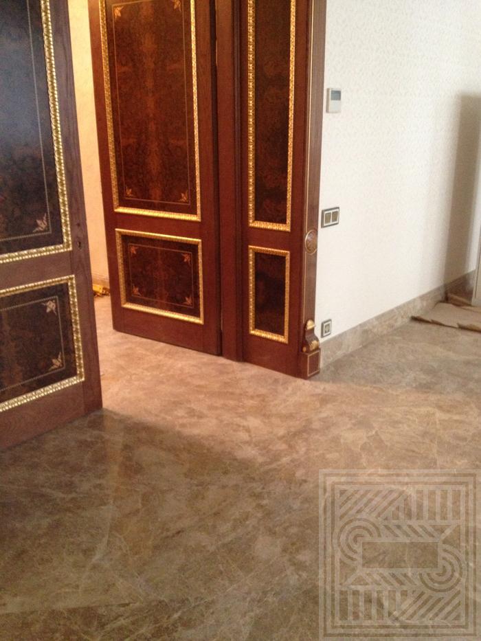 Пол из мраморной плитки Macchiato 20 мм floor-marble, tile-marble - Ukladka mramornoj plitki Macchiato 20 mm 2