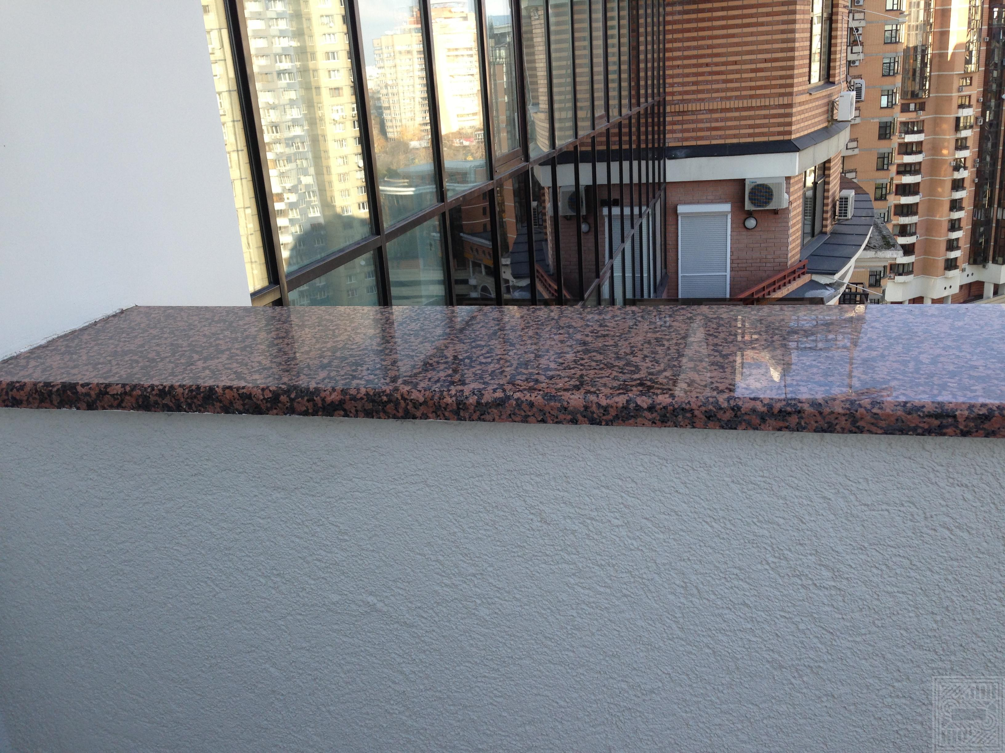 Подоконник  из гранита Rosa Balmoral 30 мм windowsill-granite - Nakryvnaya plita iz granita Rosa Balmoral 30 mm
