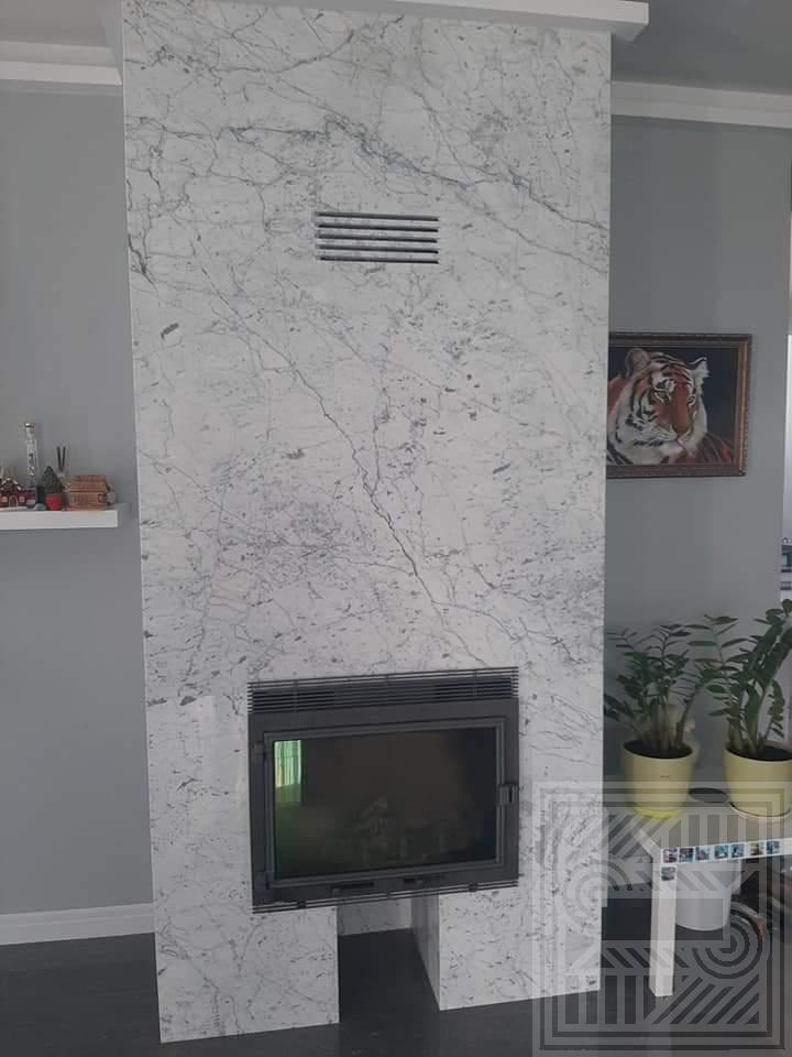 Камин из мрамора Bianco Carrara fireplace-marble - Kamin iz Carrara 2 1