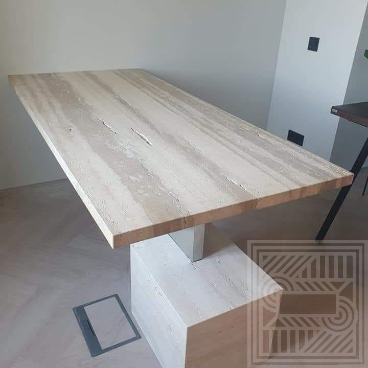 Стол из Travertino desk, worktop-travertine - Stol iz travertina 1